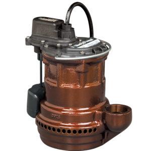 1/4 hp, Sub. Sump pump, Cast iron, VMF vertical magnetic float, 115V.