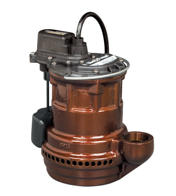 1/4 hp, Sub. Sump pump, Cast iron, VMF vertical magnetic float, 115V.