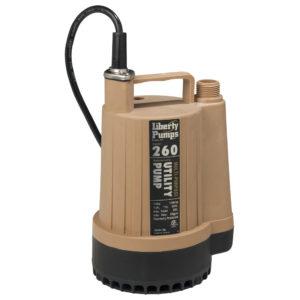 1/6 hp, Utility pump, manual, 115V, garden hose connect