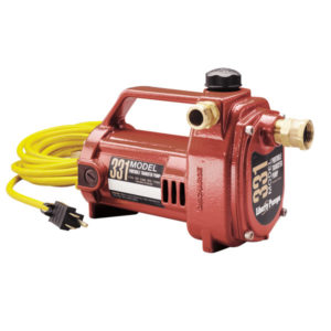 1/2 hp, Portable transfer pump, 115V, garden hose connect