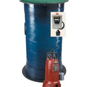 "Residential Grinder Package, unassembled, 24"" x 48"" basin, LSG202A Grinder Pump, Piping Kit"