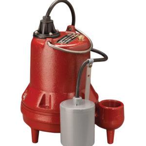 "1/3 HP, Effluent pump, 1 PH, 115V, 10' Cord, 1-1/2"" Discharge, Manual"