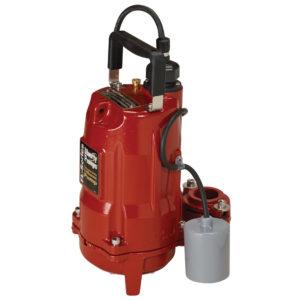 "1/2 HP, Effluent pump, 1 PH, 115V, 10' Cord, 1-1/2"" Discharge, Manual"