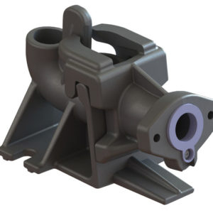 Guide rail base, cast iron w/ integral ball check valve - fits LSG-Series pumps