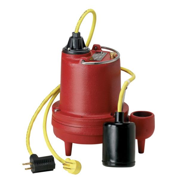 """4/10 HP, High temp sump pump, 1 PH, 115V, 10' Cord, 1-1/2"""" Discharge, Auto"""