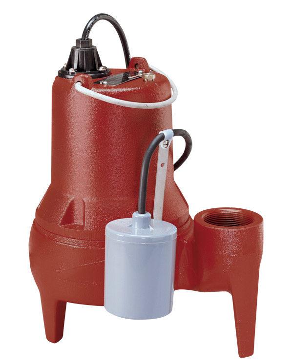 "1/2 HP, Sewage pump, 1 PH, 208-230V, 10' Cord, 2"" Discharge, Manual"