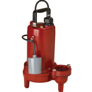 "1 HP, Sewage pump, 1 PH, 208-230V, 10' Cord, 2"" Discharge, Manual"