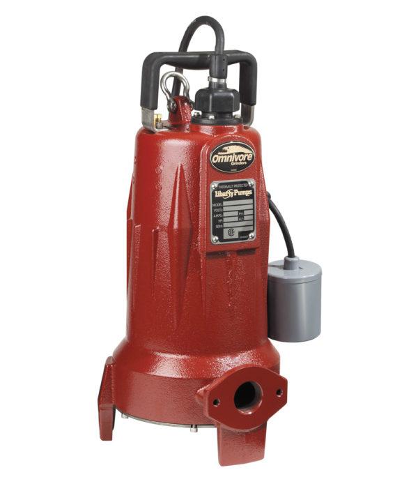 "2 HP, Grinder pump, 3 PH, 208-230V, 25' Cord, 1-1/4"" Discharge, Manual"