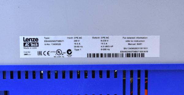 ESV402N02TXB571 Lenze AC Tech Drive
