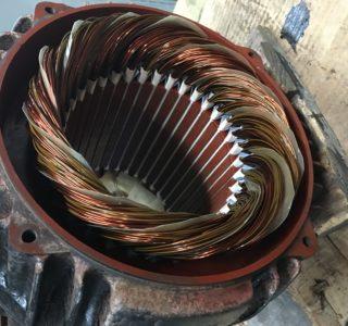 Rewound motor