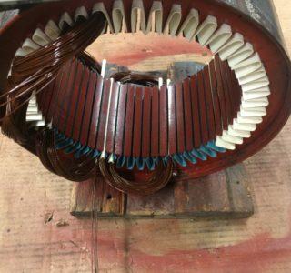 Motor being rewound