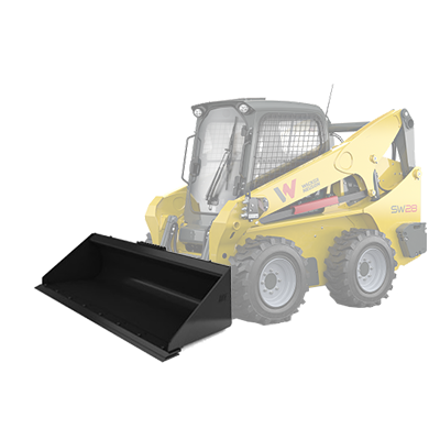 Skid Steer Bucket with Cutting Edge
